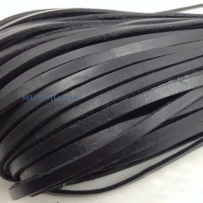 10 Meter Flat Genuine Leather Rope Cord for Bracelet Necklace Strap DIY 3mm-10mm