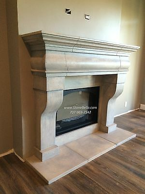 Fireplace MANTEL Surround- Cast Stone  - Old World Hearth Mantle - Made in USA