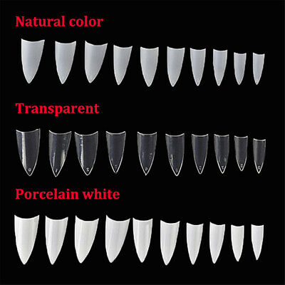 500Pcs Clear Natural White French False Nail Tips Art-Uv Gel/acrylic Diy Decor