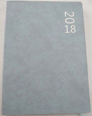 New 2018 Suede Texture Diary A4 Day To Page  Assorted Colours 2018 Diary Blue