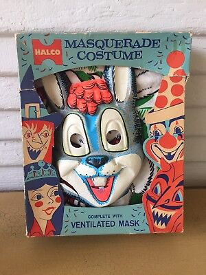 Rare Vintage Halco Masquerade Halloween RABBIT BUNNY Costume with Box