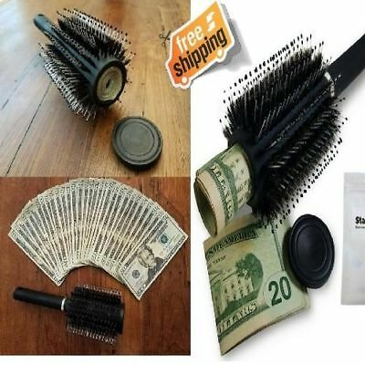 Hidden Stash Hair Brush Diversion Safe Smell Proof Secret Lid Concealed Storage