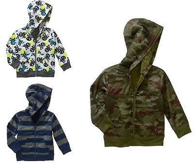 Healthtex Toddler Boys Cozy Sherpa Zip Hoodie 3 Choices  2T, 3T, 4T or 5T NWT