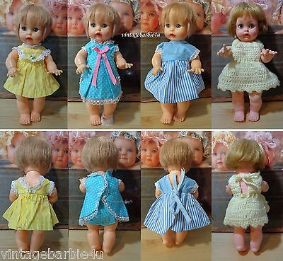 Vintage Ideal Besty Wetsy & Tearie Dearie Baby Doll Baby Dolls Clothes Lot Japan