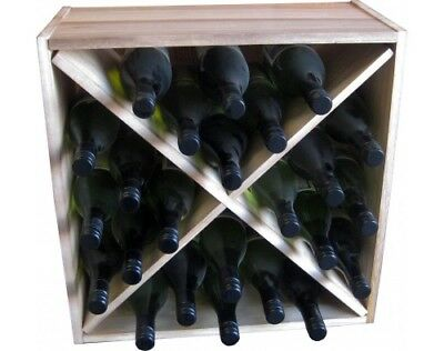WineX Cube - 24 Bottle Rack - Natural