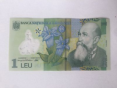 1 RON / LEU Romanian Currency - Polymer Collectible