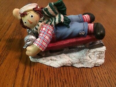 """Enesco Raggedy Andy Figurine """"Have a Happy Jolly Time"""""""