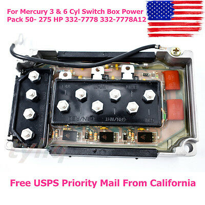 CDI For Mercury 3 & 6 Cyl Switch Box Power Pack 50- 275 HP 332-7778 332-7778A12