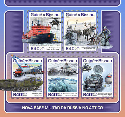 Z08 IMPERF GB17710a GUINEA-BISSAU 2017 Arctic Military base of Russia MNH ** Pos