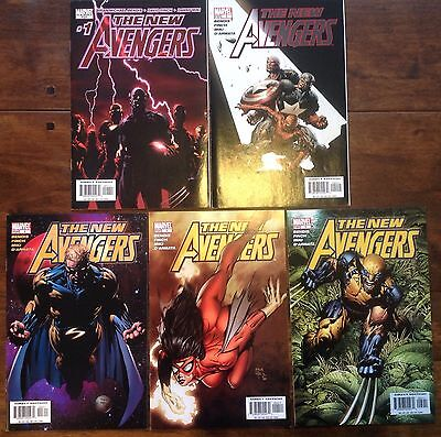The New Avengers 2005 #1-5 Marvel Comics