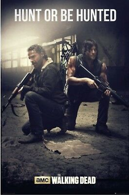 THE WALKING DEAD Poster - Hunt Or Be Hunted Full Size 24x36 Print ~ Rick Daryl