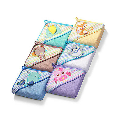 Soft Large Baby Kids Toddler Terry Hooded Towel Bathrobe Cartoon Animal Unisex