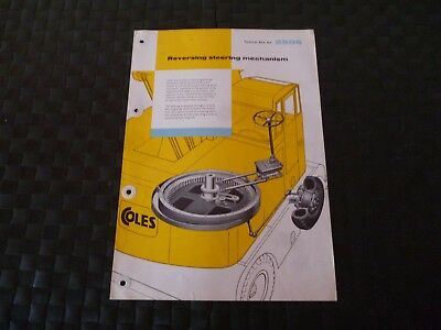 Coles Reversing Steering Mechanism Technical Data Ref. 2506 1958 Leaflet *read*