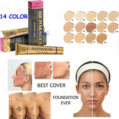 Dermacol Waterproof High Coverage Conceal Make up Foundation Cover Long Lasting