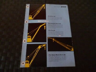 Coles Strut Jibs - Channel/fly/swan Neck Technical Data Ref. 2510 Leaflet *read*