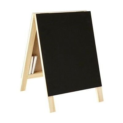 A Frame Chalkboard Blackboard Notice Board Chalk Double Sided Vintage Rustic New