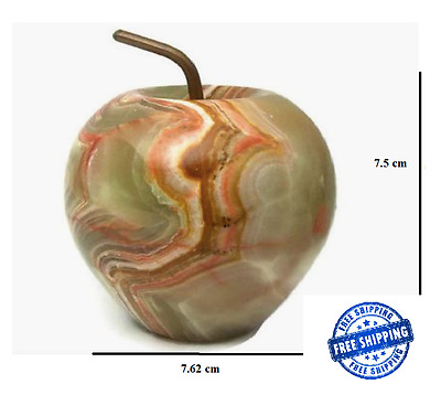 Hand Carved/Polished Onyx Apple Decoration/Gift/Paper Weight - FREE POSTAGE