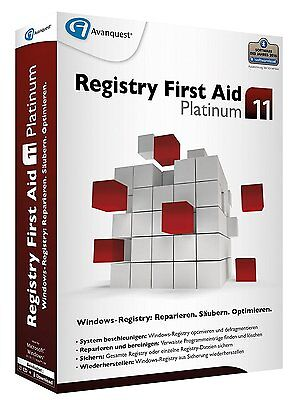 Registry First Aid 11 Platinum CD/DVD Version EAN 4023126119094