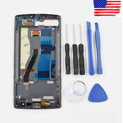 LCD Screen Display+Digitizer Touch Glass+Frame Assembly for Oneplus One 1+A0001