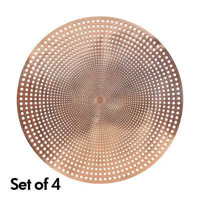 Set of 4 Rose Gold Placemat Tablemat Dining Table Kitchen Copper Place Mat