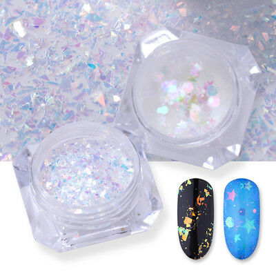 AB Color Nail Glitter Sequins Irregular Star Round Iridescent Flakes BORN PRETTY