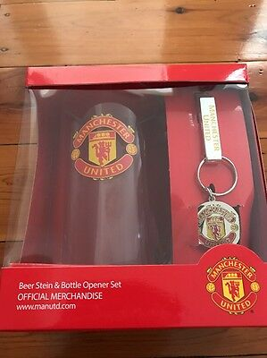 Manchester United Beer Stein & Opener Set OFFICIAL MERCHANDISE