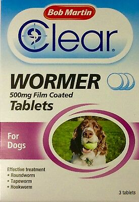 Bob Martin Clear Wormer Tablets for Large Dogs!
