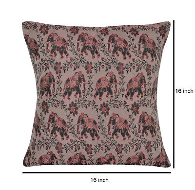Bed Pillowcase Throw Silk Brocade Sofa Bedding Couch Cushion Cover Pink 16 x 16""