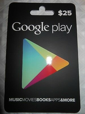 $25 Google Play Gift Card -Actual Gift Card FAST SAME DAY SHIPPING   #57-59