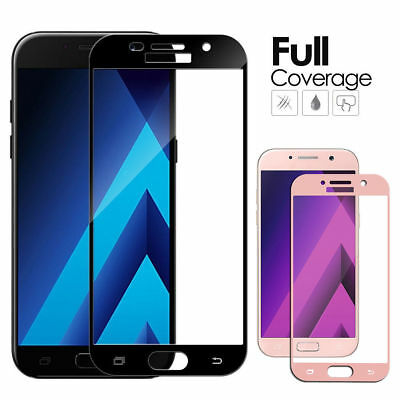 Edge Full Cover Tempered Glass Film Screen Protector For Samsung Galaxy J3 J5 J7