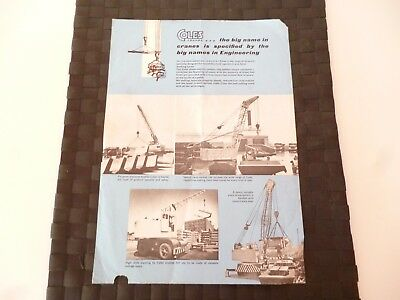 Coles Cranes Big Names In Engineering Pub. 2347 (Poor) Leaflet/pamphlet *read*