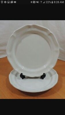 """Mikasa French Countryside Salad Plates 8"""" White F9000 Plate(s)"""
