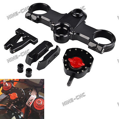 CNC For KTM RC250 RC390 Steering Damper Stabilizer & Bracket Mount Set Kit