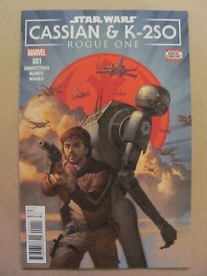 Star Wars Rogue One Cassian & K-2S0 #1 Marvel 2017 One Shot 9.6 Near Mint+