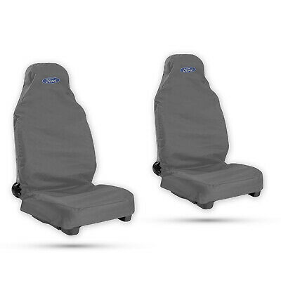 Ford Transit Connect Duty Black Waterproof Seat Cover//Protectors H Pair