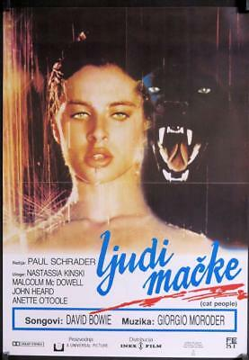 R717 CAT PEOPLE Yugoslavian movie Poster,  '82 sexy Nastassja Kinski