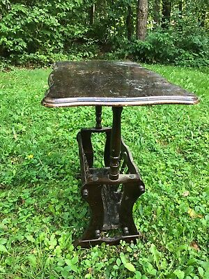 Vintage Original Wooden Table With Magazine Rack