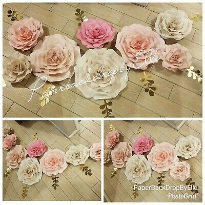 Large paper flowers for backdrop decor55 5500 picclick large paper flowers for backdrop decor55 mightylinksfo