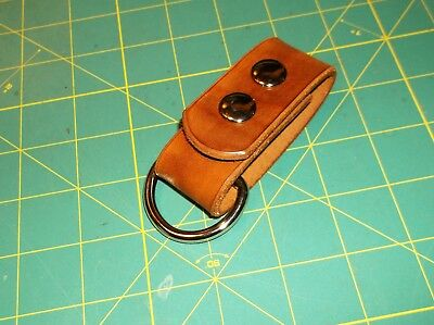"Leather Belt Strap, Knife Sheath Dangler, 1 1/2"" D ring fit 3"" Belt, Pack Strap"