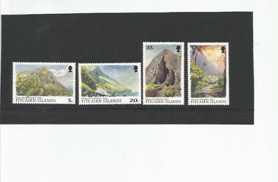 MINT 1997 PITCAIRN ISLAND VIEWS OF CHRISTIANS CAVE SET OF 4 5c,20c,35c,$5 MUH