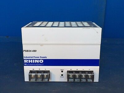AUTOMATIONDIRECT NEW No box RHINO PSB24-480 INDUSTRIAL POWER SUPPLY 100/240V 20A