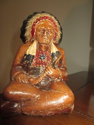 Vintage Burwood Statue of American Indian Chief