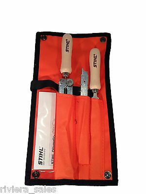 "Pouch 5Pcs Chainsaw Sharpening Filing Kit 5.2mm File for Stihl 3//8/"" Pro Chain"