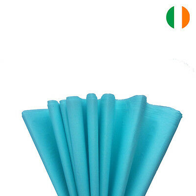 """10 sheets x LIGHT BLUE TISSUE WRAPPING PAPER 500 X 750 MM 19 X 29""""-TOP QUALITY"""