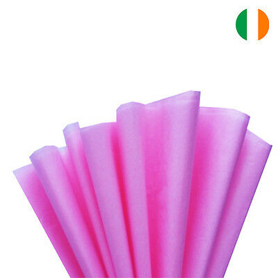 """10 sheets x PINK TISSUE WRAPPING PAPER 500 X 750 MM 19 X 29""""-TOP QUALITY"""