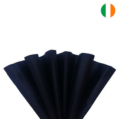 """10 sheets x BLACK TISSUE WRAPPING PAPER 500 X 750 MM 19 X 29""""-TOP QUALITY"""