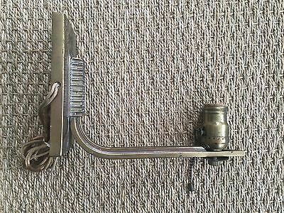 Vtg Wall Sconce architectural salvage fixture Antique brass finish Art Deco 1920