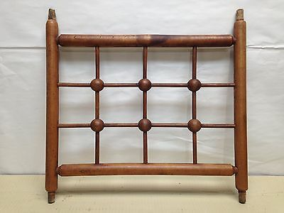 Antique Victorian Stick and Ball Architectural Wood Maple? Panel Salvage Vintage
