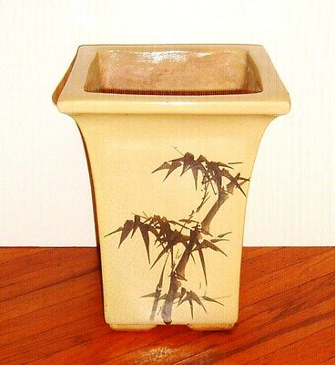"Antique Large Asian Planter Pottery Vase 14"" High"