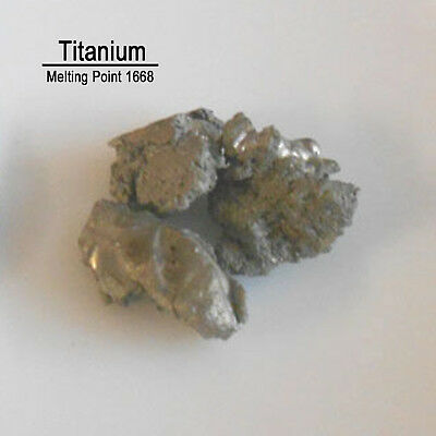 100g Ti 99.99% Pure Titanium Metal Metalloid Element 22 with label